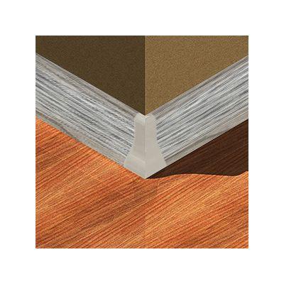 Set 4 buc. piese Lineco imbinare colt exterior culoare gri lemnos pentru plinta parchet PBC605 - PBE605. 211-S4