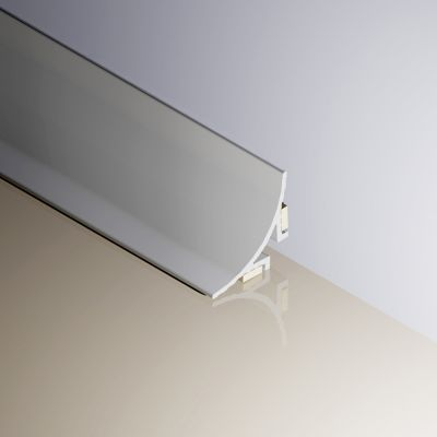 Profil de blat concav autoadeziv din aluminiu eloxat satinat - EWA150